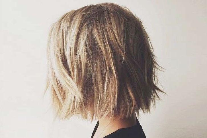 Каре на густые волосы