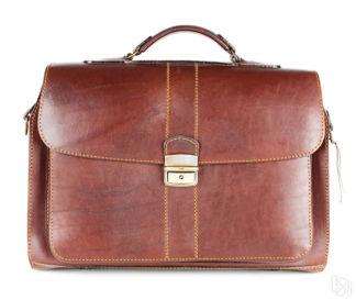 d895b5b659e0 Кожаный портфель ручной работы Фердинанд, коричневый