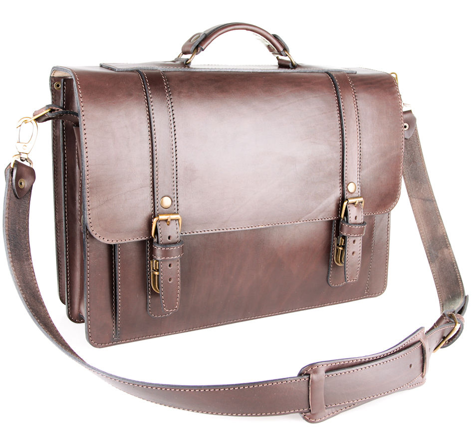 2da4cc0c9c09 Екатеринбург. Кожаный портфель ручной работы Пегас, тёмно коричневый