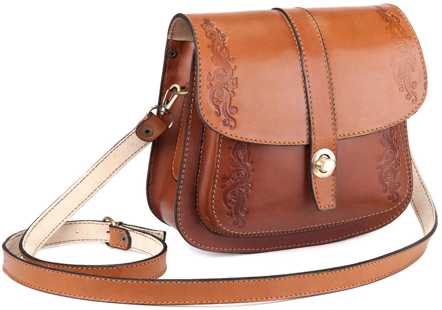 58370557b502 Купить Женская кожаная сумка ручной работы Париж, коричневая в  Санкт-Петербурге - Я Покупаю