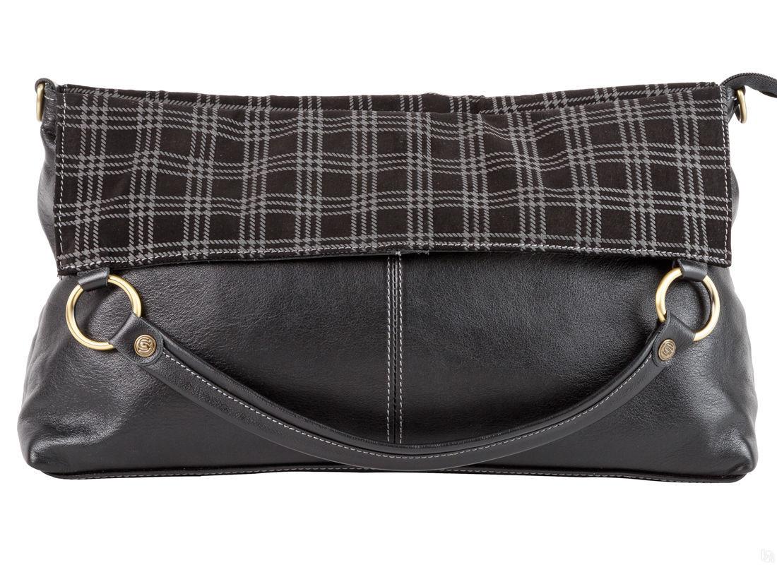 85341ee80973 Купить Женская кожаная сумка Вуаттон, чёрная в Санкт-Петербурге - Я ...