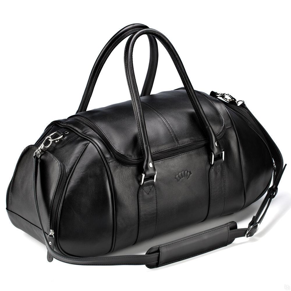 1dd846db8fd7 Купить Кожаная дорожно-спортивная сумка Дональд, чёрная в Санкт ...