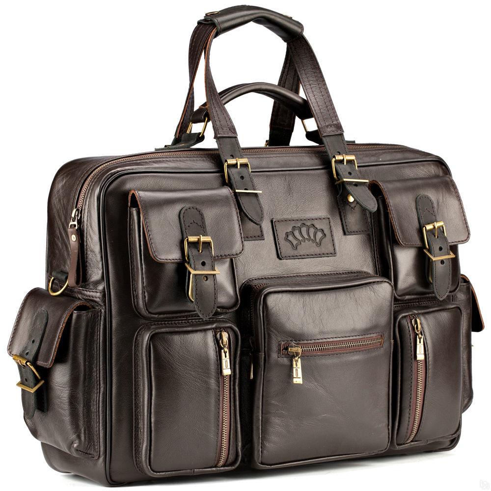 411eb705951a Мужская кожаная деловая сумка для командировок Ричард, коричневый